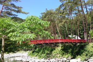 朝霧橋の他に吊り橋が3あります